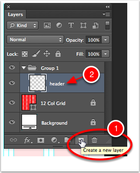 Create a New Layer for each item you are going to draw.