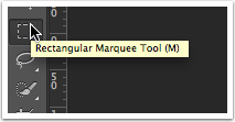 Spanning Columns Step1: Select the Marquee Tool