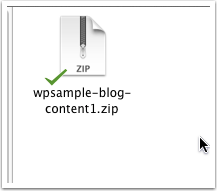 Save the zip file