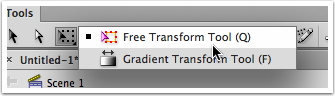 Choose the Free Transform Tool