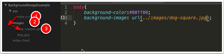 Add a background-image rule