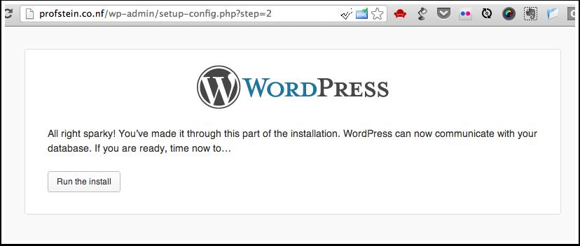 Click Run the install
