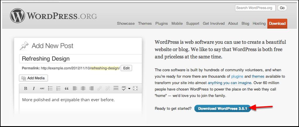 Download WordPress 3.5.1