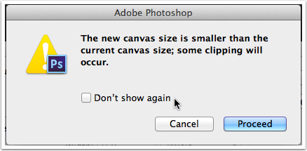 Adobe Photoshop will give you a warning that you are clipping (cropping) the image
