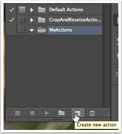 Click the Create New Action Icon