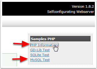 ClickHP and MySQL test links