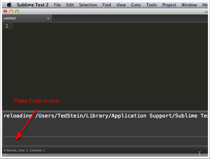 Open the Sublime Text Console