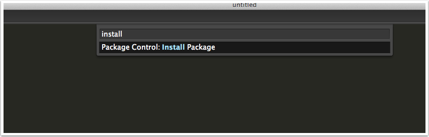 """Start Typing """"Install Package"""""""