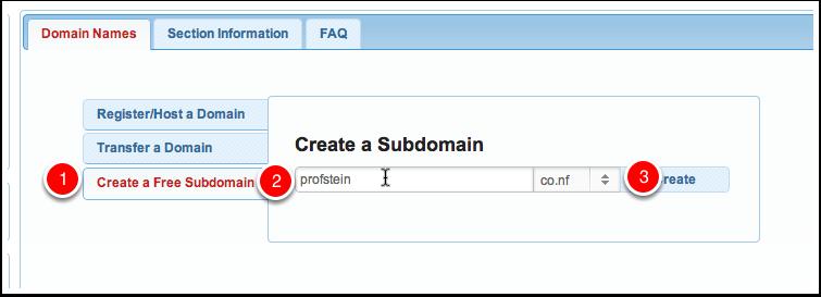 Create a New Subdomain