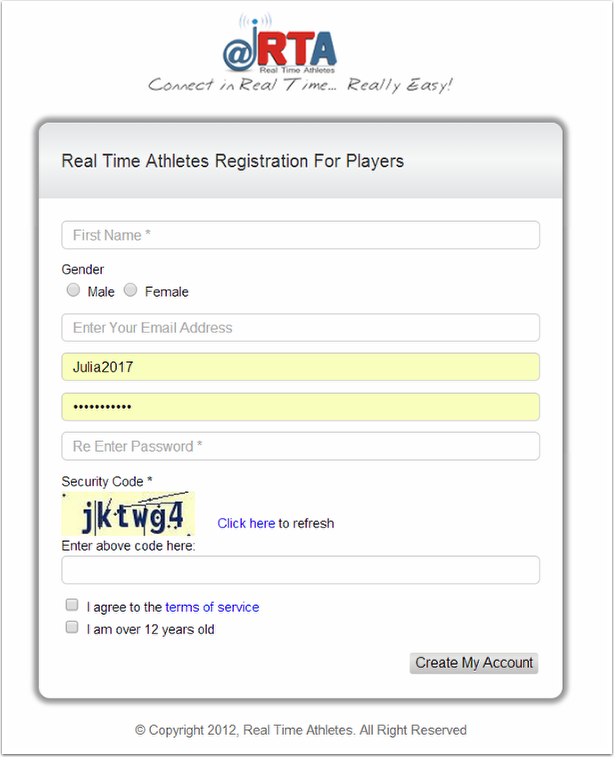 go page register page