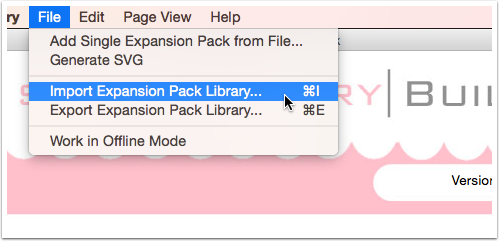 For importing go to File> Import Expansion Pack Library