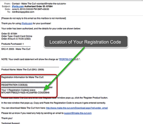 Finding Your Registration Code