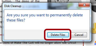 Choose Delete Files