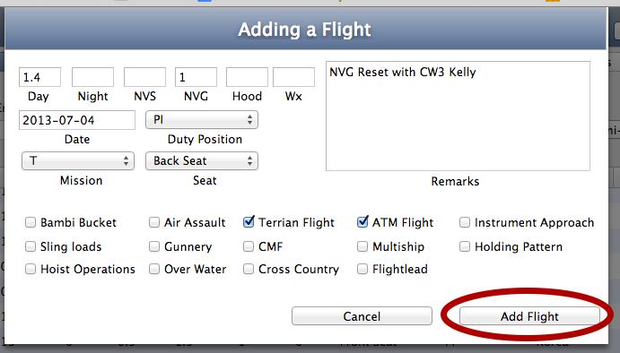 Input Data and Add Flight