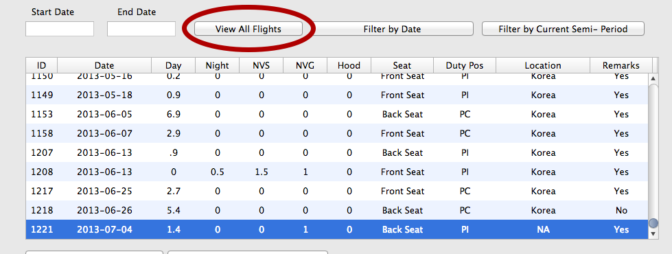 Viewing the Added Flight