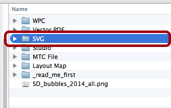 Navigate to the SVG Folder from ScrappyDew