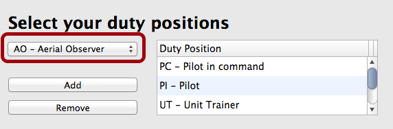 Adding Duty Positions You Fly Most