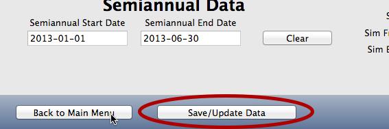 Click Save/Update Data