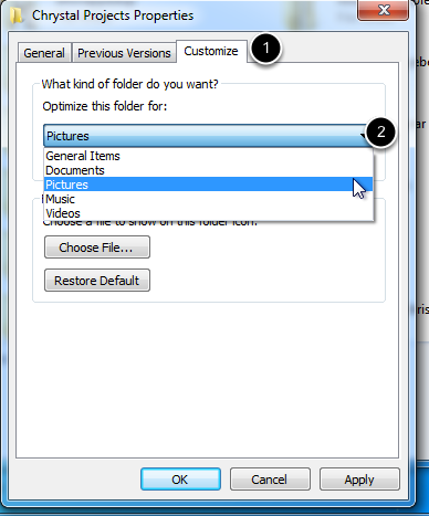 Select Customize Tab
