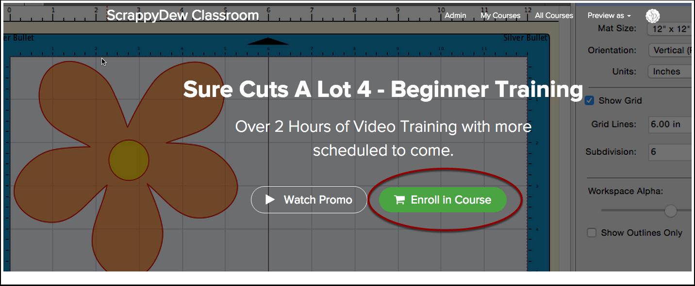 Sure Cuts A Lot 4 - Beginner Training | ScrappyDew Classroom
