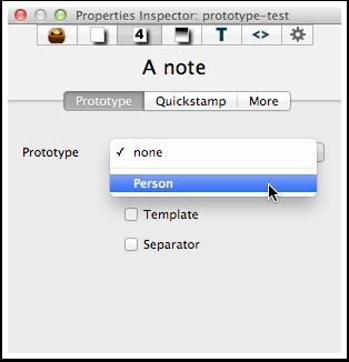 6. Inspector - Properties Inspector - Prototype tab