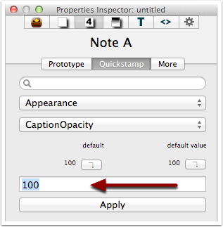 4. Setting a new attribute value - single note