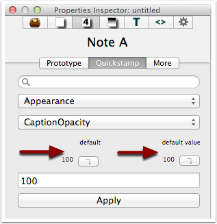 6. Understanding the default buttons - a single, unmodified note