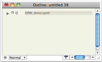 Drag the OPML file to Tinderbox