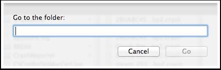 Locating the Finder folder for crash logs - 1