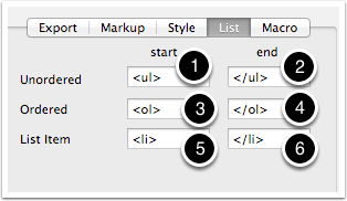 8.4 HTML Inspector - List tab