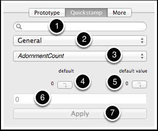 5.2 Properties Inspector - Quickstamp tab