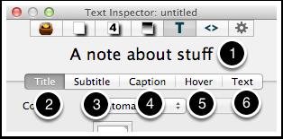 7. Text Inspector