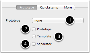 5.1 The Properties Inspector - Prototype tab