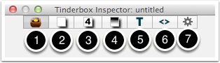 2. Tinderbox's Inspector - primary Inspector Tabs