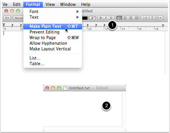 6.2 Make a new plain text document in TextEdit