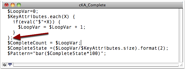 9. Add $Text to cKA_Complete