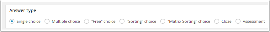 4. Select an Answer Type
