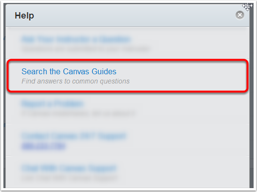 Step 1: Search the Canvas Guides