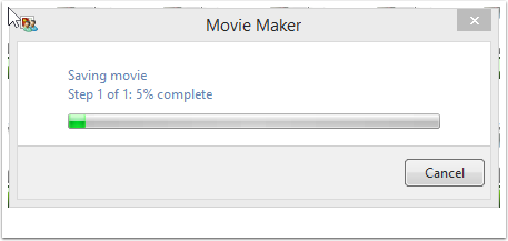 MovieMaker then exports