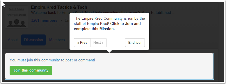 Invest : Empire.Kred Tactics and Tech Community