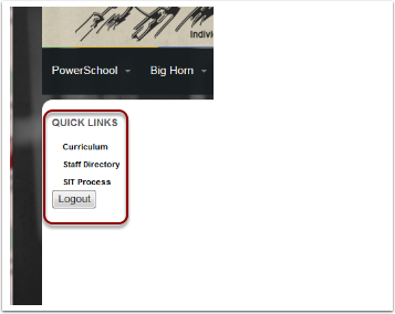 2. To access staff documents, click on one of the Quick Links on the left side.