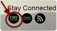 If you have not already set up a classroom page, click on the round circle (CMS) at the bottom of the screen.