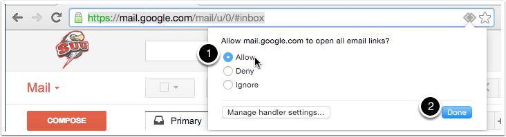 how to change default email to gmail