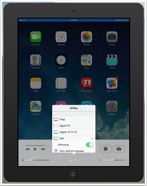 Airplay Mirroring From Ipad Iphone Ios7 Ios8 And Ios9