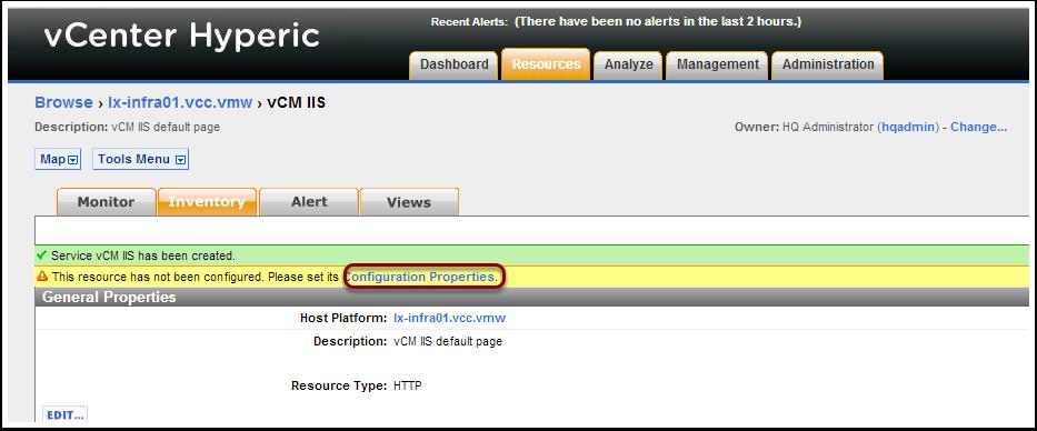 Konfiguration des Platform Service (1)