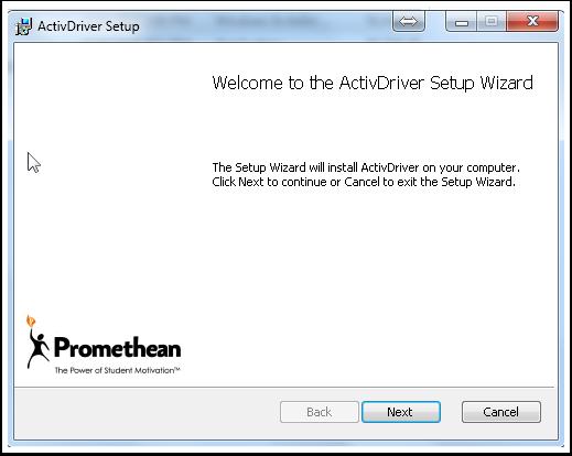 "1.5 Click ""Next"" to allow the Setup Wizard to run."