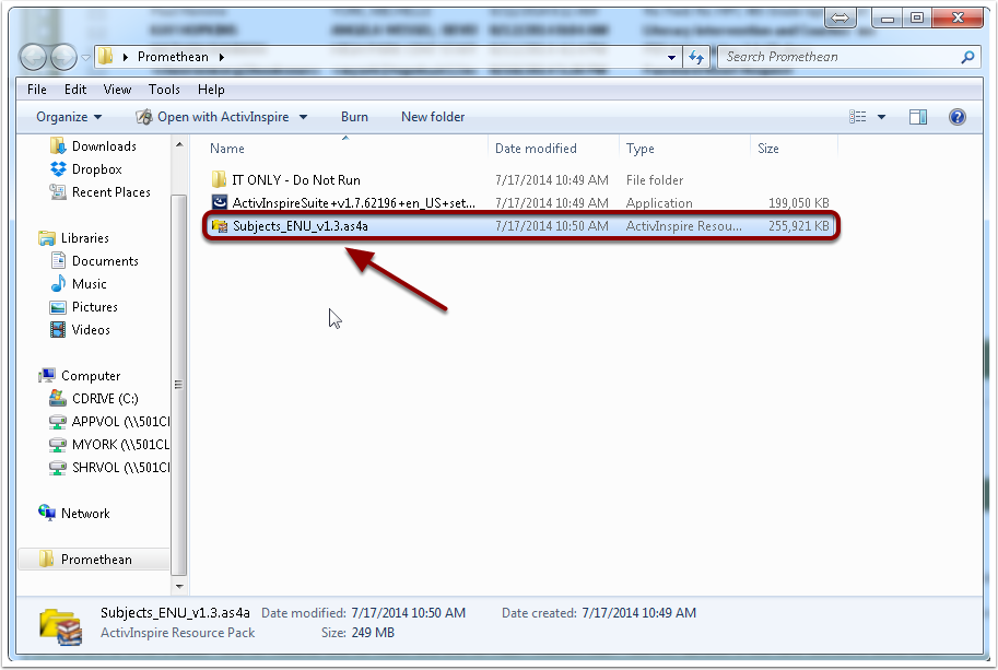 5. Installing the Subject Resource Packs