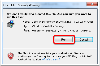 1.3 Open File-Security Warning