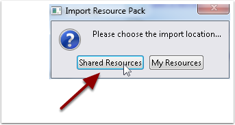 5.5 Resource Pack Import Location