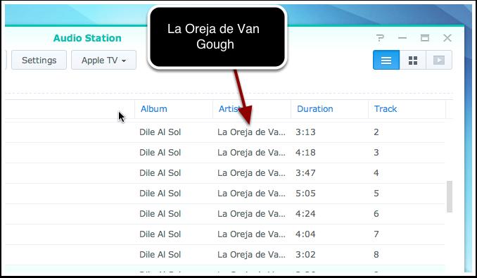 3. Seleciona la música que quieras escuchar de tu biblioteca localizada en el Synology NAS